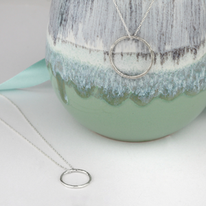 Open Circle Pendant - Small/Large