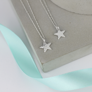Hammered Tiny Star Necklace