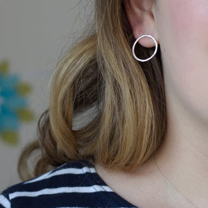 Large Open Circle Earrings