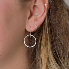 Load image into Gallery viewer, Open Circle Drop Earrings