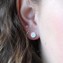 Load image into Gallery viewer, Sleeping Moon Face Earrings