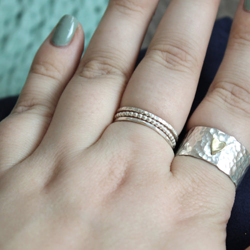 Set of Three Skinny Stacking Rings