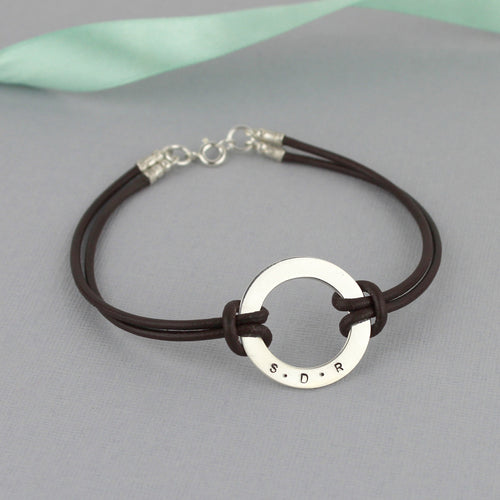 Personalised Washer Bracelet