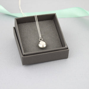 Smooth Recycled Silver Pebble Necklace