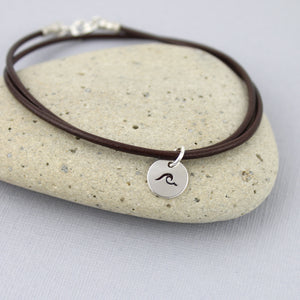 Wave Leather Bracelet