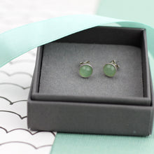 Load image into Gallery viewer, Green Aventurine Studs