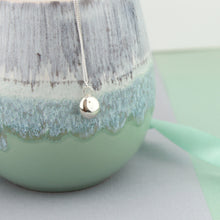Load image into Gallery viewer, Smooth Recycled Silver Pebble Necklace