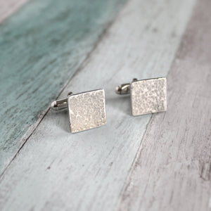 Hammered Square Cufflinks