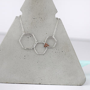 Statement Silver Bee Necklace
