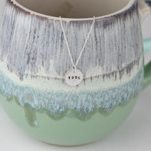 Load image into Gallery viewer, Silver Birth Year Disc Necklace