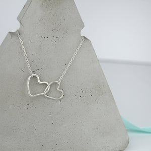 Silver Infinity Hearts Necklace