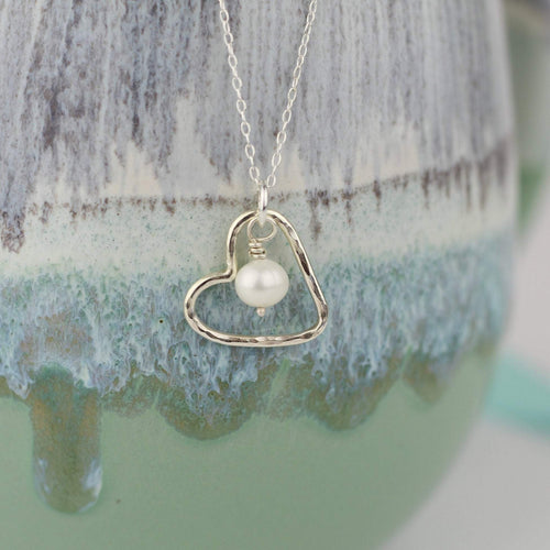 Heart Necklace with Pearl