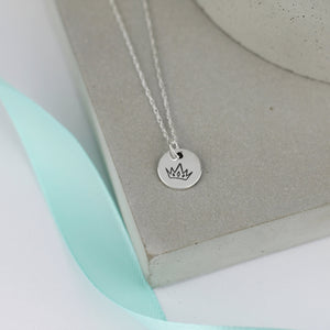 Princess Silver Crown Necklace