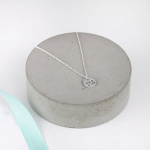 Silver Personalised Disc Necklace