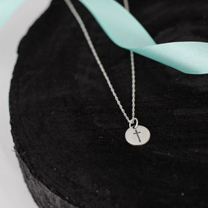 Simple Silver Cross Necklace