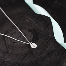 Load image into Gallery viewer, Silver Compass Charm Necklace