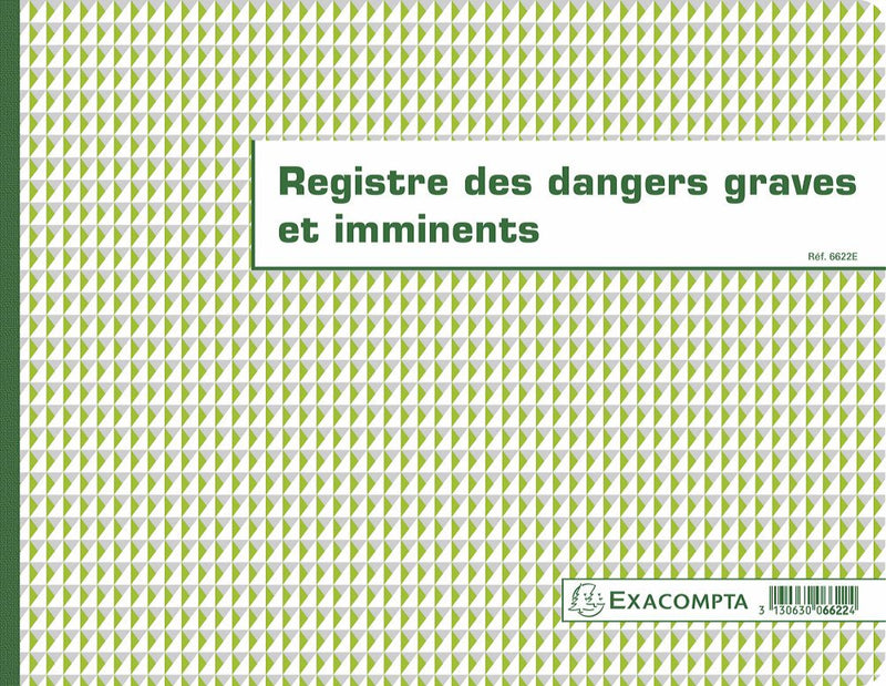 Registre des dangers graves et imminents EXACOMPTA ® 4