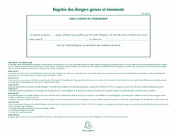 Registre des dangers graves et imminents EXACOMPTA ® 1
