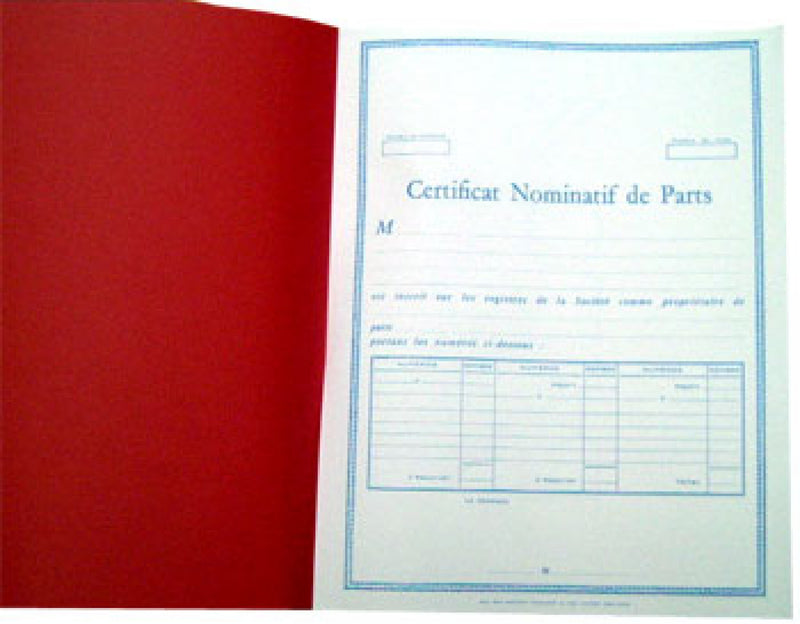 Certificats Nominatifs de Parts