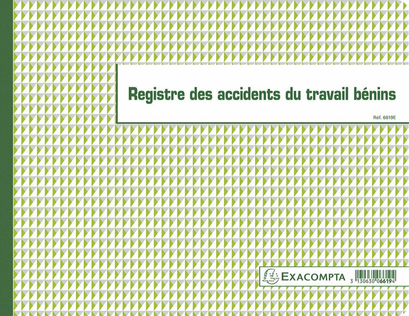 Registre des accidents du travail EXACOMPTA ® 3