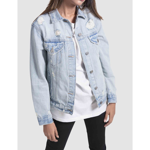 Boyfriend Light Blue Denim Jacket