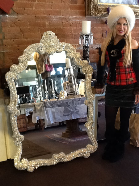Blinged Entryway Mirror