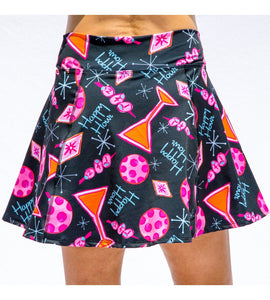 MARTINI 2-4-1 HAPPY HOUR A-LINE SKORT