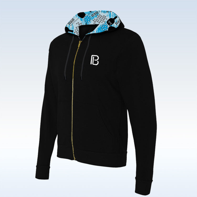 Graffiti 2 Black Full-Zip Hoodie