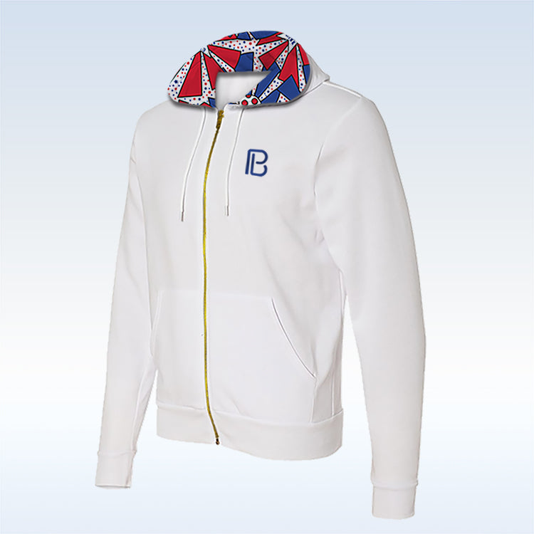 United We Dink White Full-Zip Hoodie