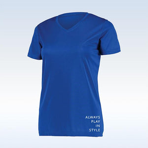 Bella Bella Sports Royal Blue Short Sleeve V-Neck