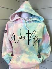 Load image into Gallery viewer, Worthy Tie Dye Hoodie