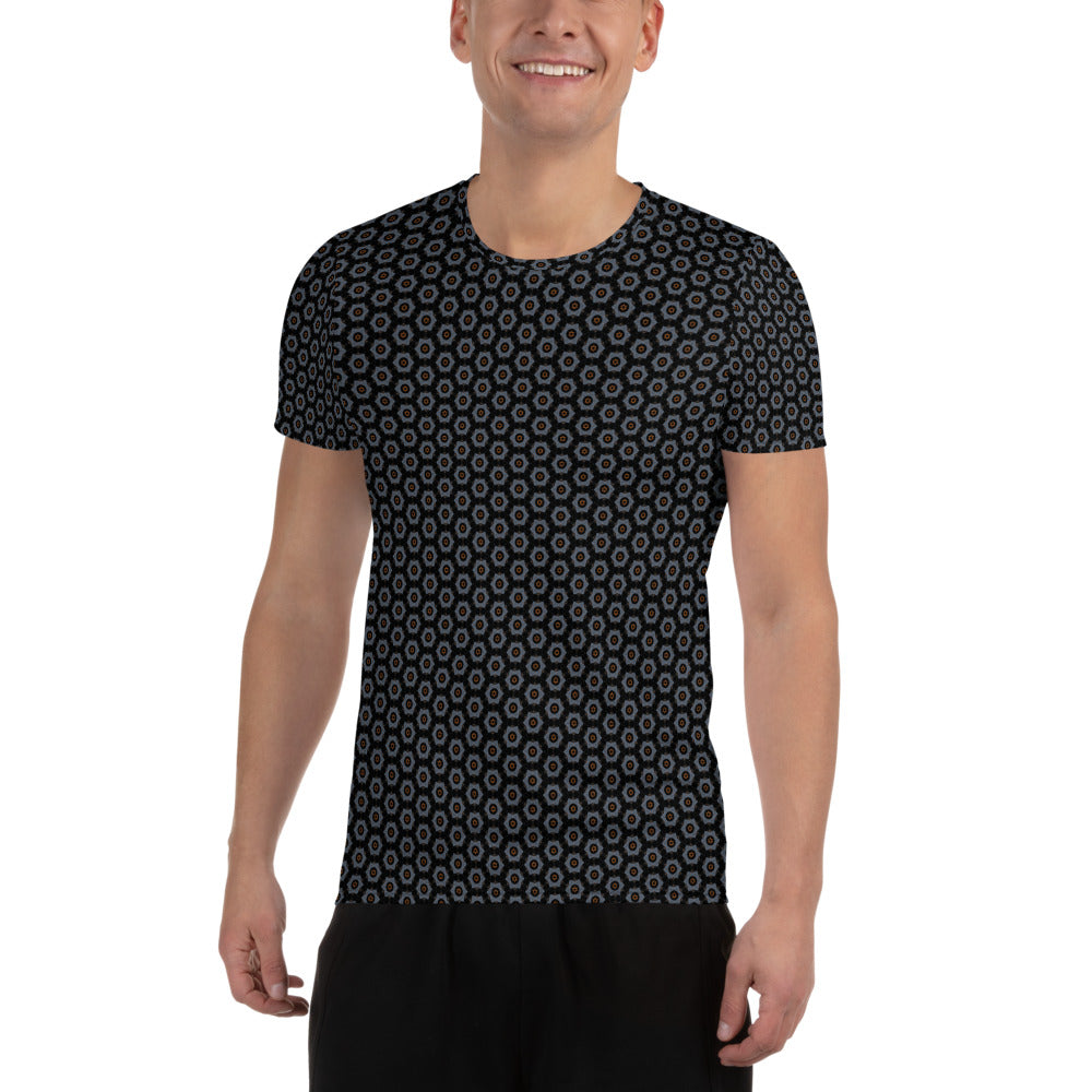 """Splash"" Pattern Men's Athletic T-shirt - beARTified"