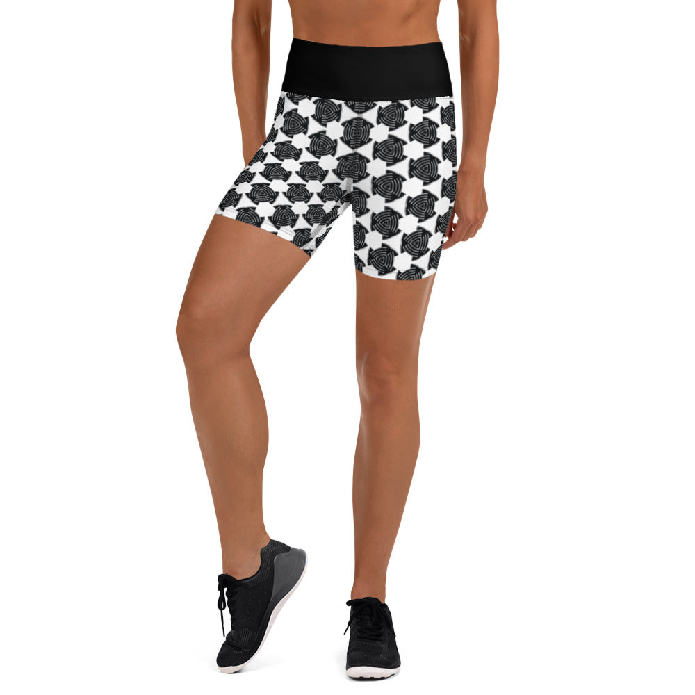 """Chrysler"" Pattern Yoga Shorts - beARTified"