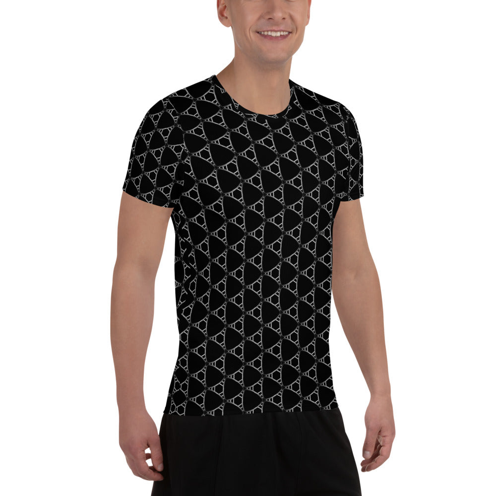 """Chrysler"" Pattern Men's Athletic T-shirt - beARTified"