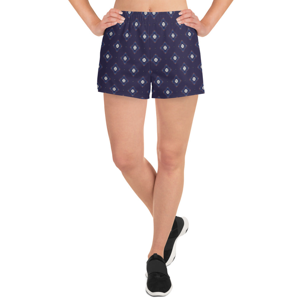 """Cymbals"" Pattern 100 Women's Athletic Short Shorts"
