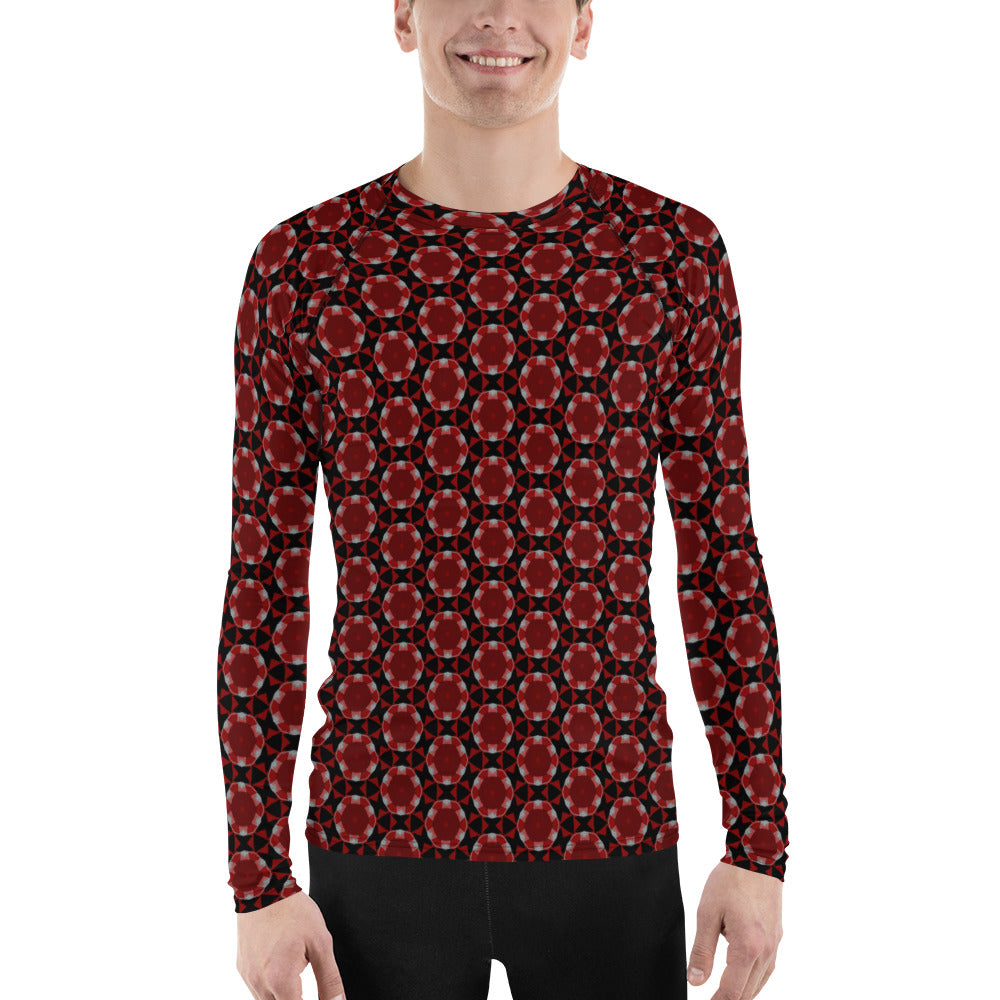 """Another Space"" Pattern Men's Rash Guard - beARTified"