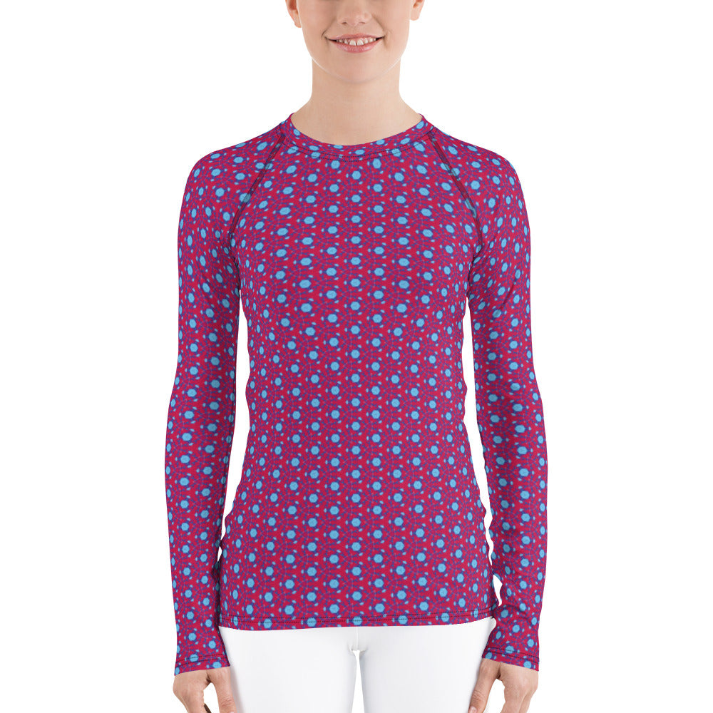 """Axis"" Pattern Women's Rash Guard - beARTified"
