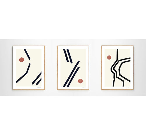 Set von 3 Prints von VINTA SERIES