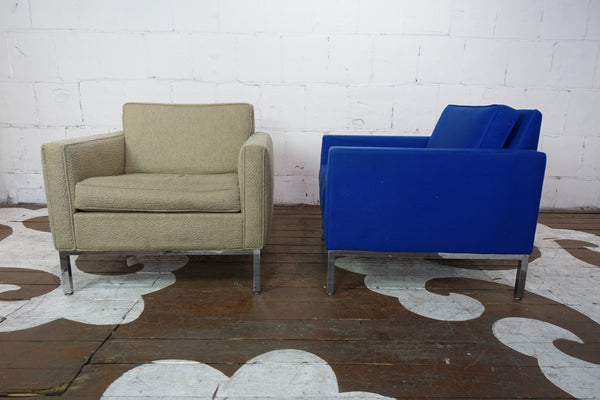 Pair of Steelcase Cube Chairs with Chrome Bases