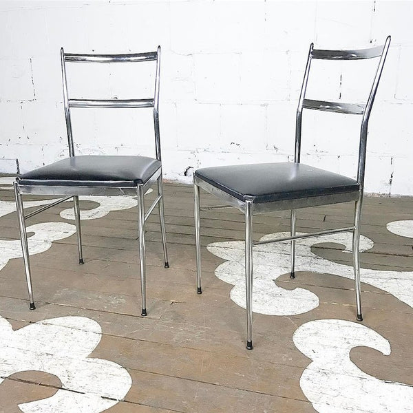 Ponti Chrome Chairs