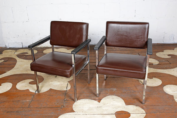 Pair Of Vintage Chrome Chairs