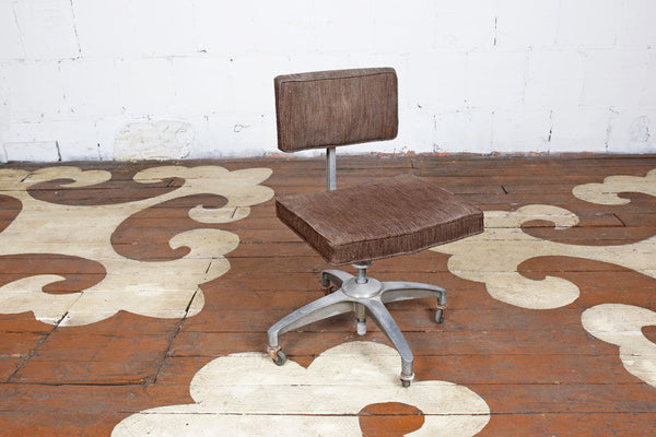 Vintage Desk Chair On Casters