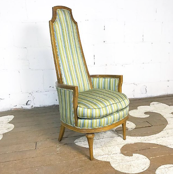 Vintage Tall Back Arm Chair