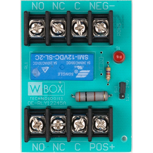 W Box 0E-RLY12245A 5 AMP 220VAC/28VDC Relay Module, 12 or 24 VDC