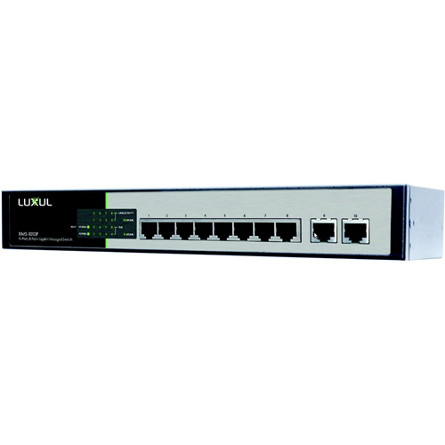 Luxul XMS-1010P 10 Port/8 PoE+ Gigabit Managed Switch