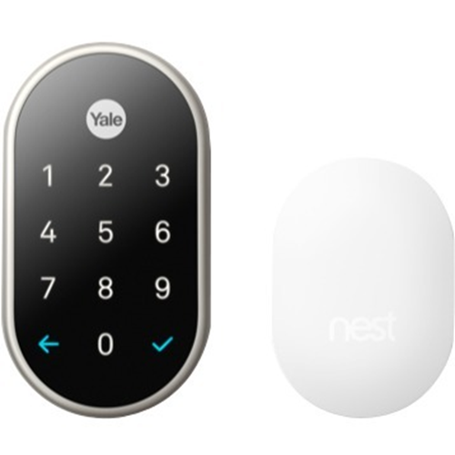 Google Nest x Yale RB-YRD540-WV-619 Lock (Satin Nickel) with Nest Connect