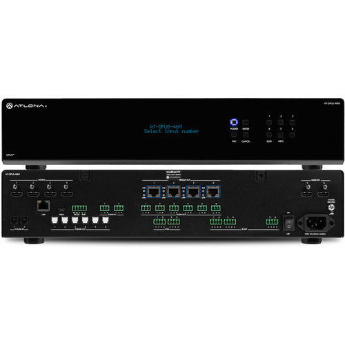 Atlona® AT-OPUS-46M 4 by 6 HDMI to HDBaseT 4K HDR Matrix Switcher