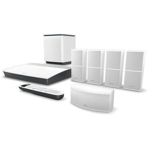 Bose 761682-1210 Lifestyle 600 Home Theater System with Jewel Cube Speakers (White)