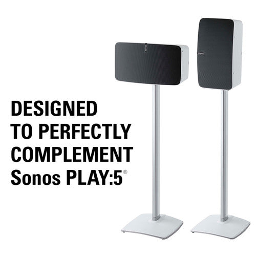 Sanus WSS51-W1 Sonos Play 5 Wireless Speaker Stands White- Single