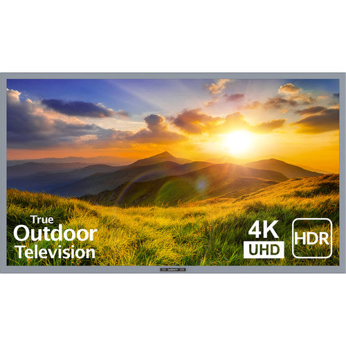 "SunBriteTV SB-S2-75-4K-SL 75"" Signature Series 2 4K Ultra HD Partial Sun Outdoor TV - Silver"